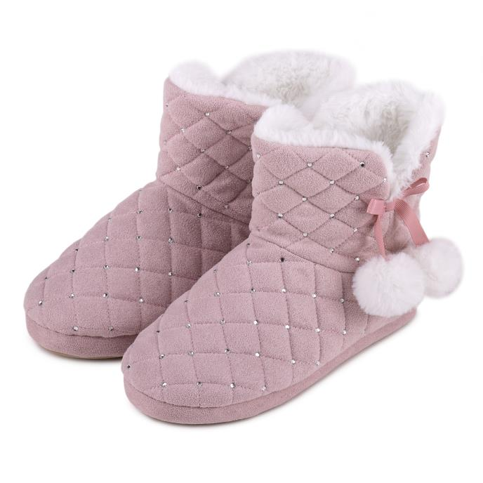 totes Ladies Rhinestone Quilted Boot