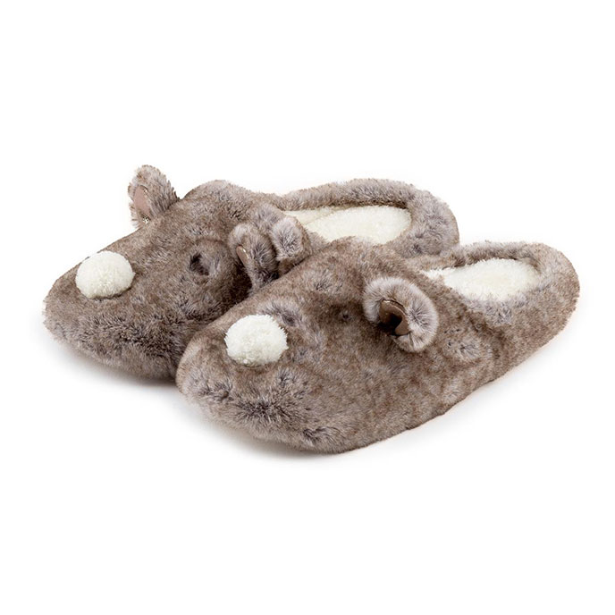 totes Ladies Novelty Mule Slippers Bear
