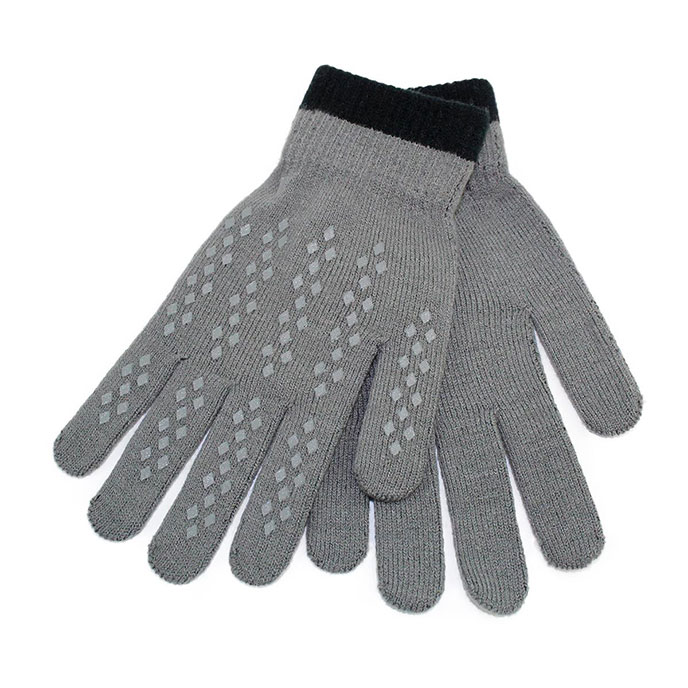 totes Mens Original Smartouch Gloves Grey