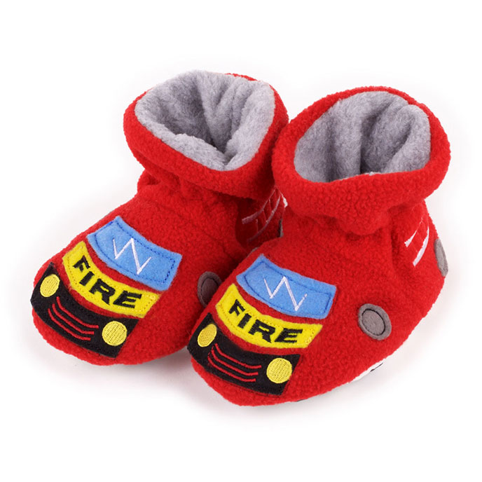 totes Boys Novelty Slippers Fire Engine