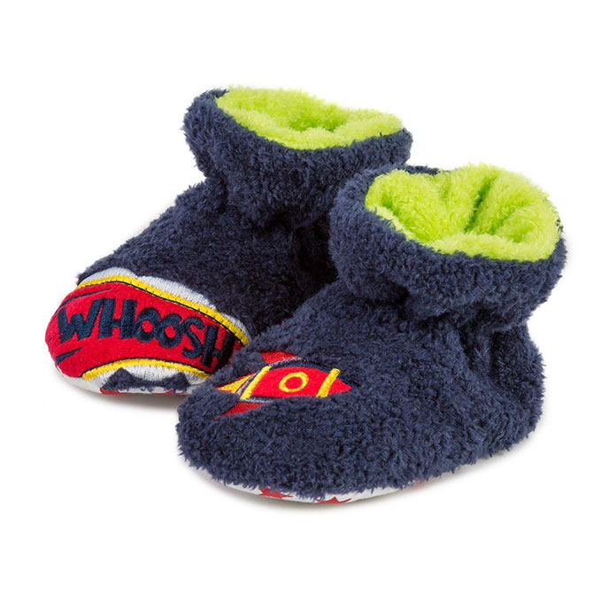 totes Boys Novelty Space Slippers Space
