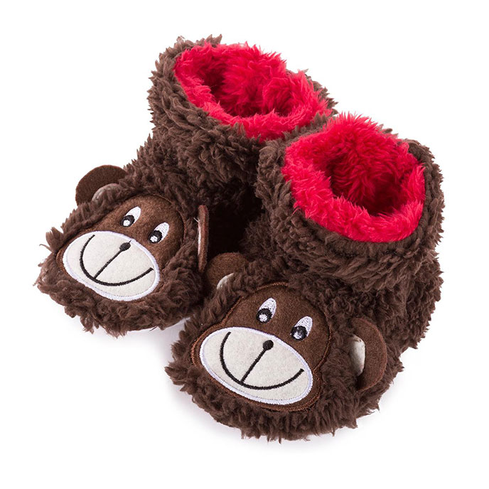 totes Boys Novelty Slippers Monkey 1218 Months