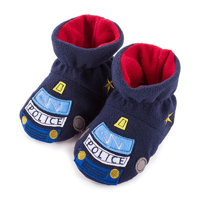 totes Boys Novelty Slippers Police car 1218 Months