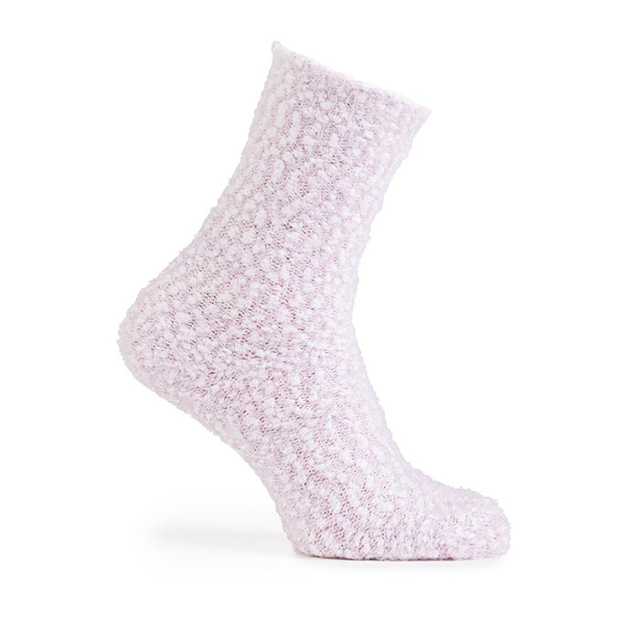 totes Ladies Bobble Cosy Socks (Twin Pack) Lilac & Plum
