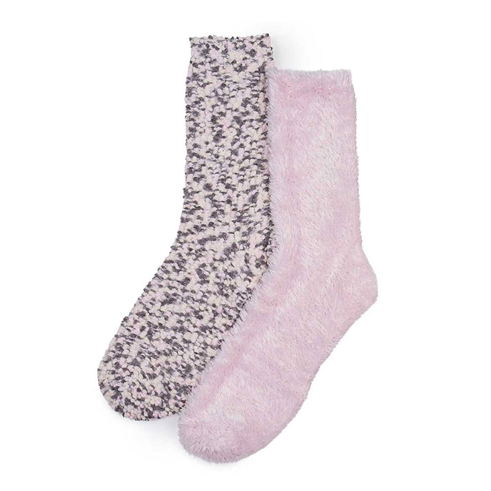 totes Ladies Untreaded Bedsox (Twin Pack) Pink