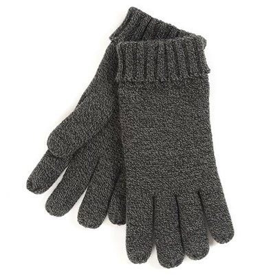 isotoner Mens Twisted Acrylic Collection Grey Gloves