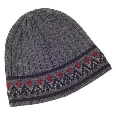 isotoner Mens Fair Isle Knit Collection Charcoal Hat