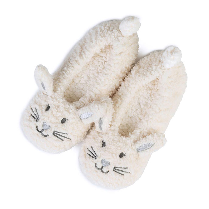 totes Ladies Novelty Footsie Slipper Socks Rabbit