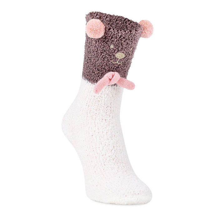 totes Ladies Novelty Cosy Slipper Socks Bear