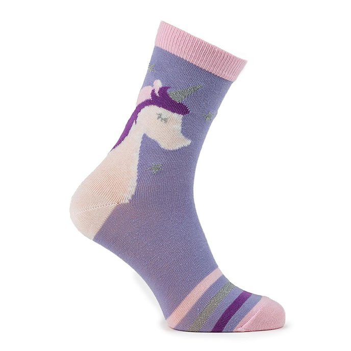 totes toasties Ladies Novelty Socks In Bauble Unicorn