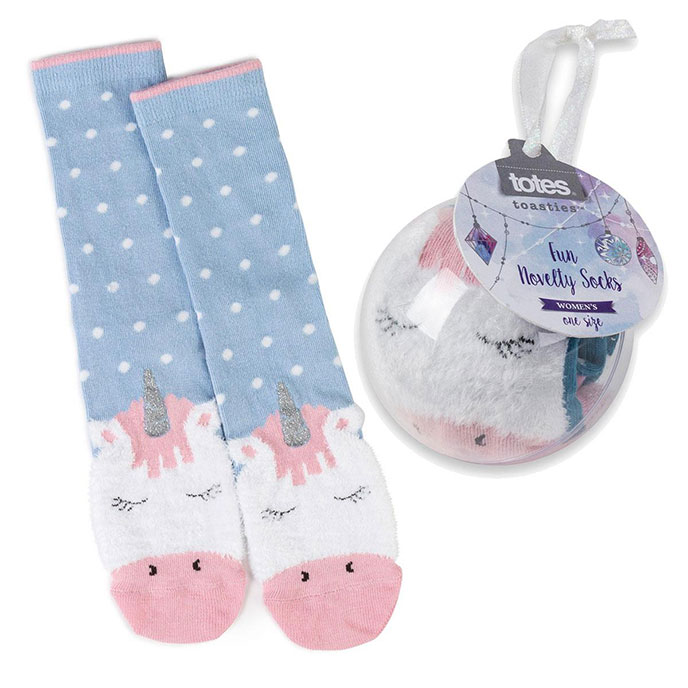totes Ladies Socks in Bauble Unicorn