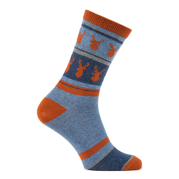 totes Mens Twin Pack Supersoft Socks Orange