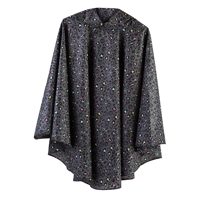 totes Panther Print Poncho with Pocket
