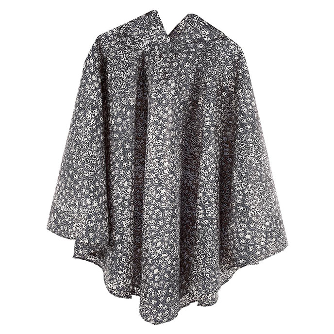 totes Fabric Poncho with Pocket Mocha Leopard