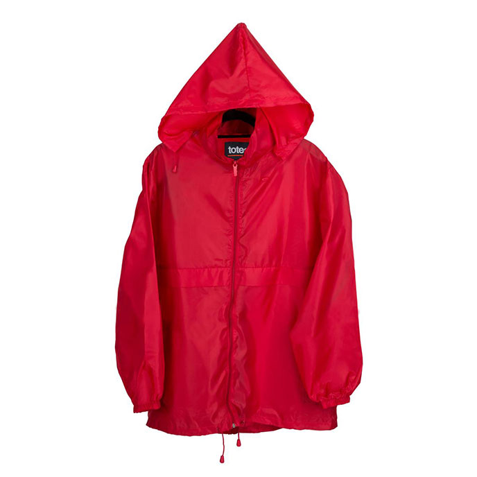 totes Packable Raincoat Red