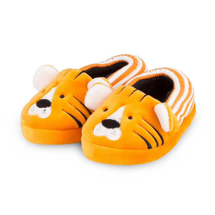 totes Childrens Tiger Slippers Orange