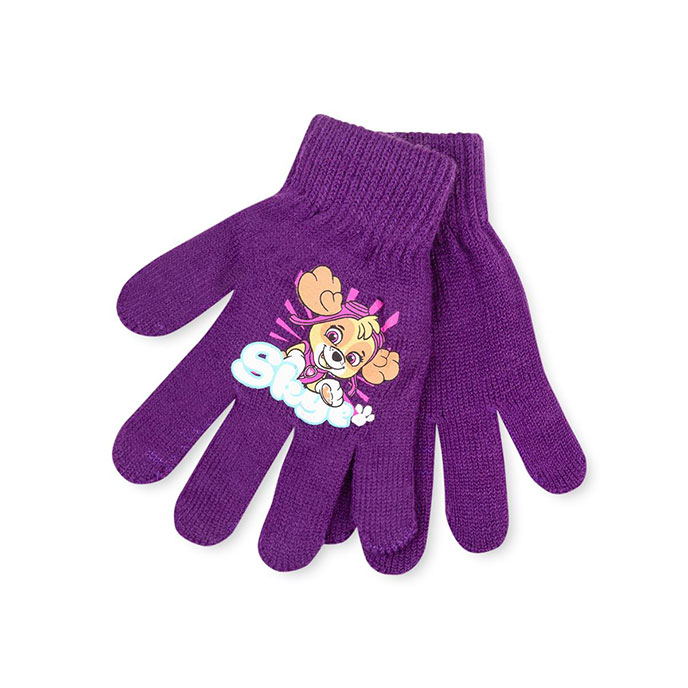 Kids Paw Patrol Gloves  Purple