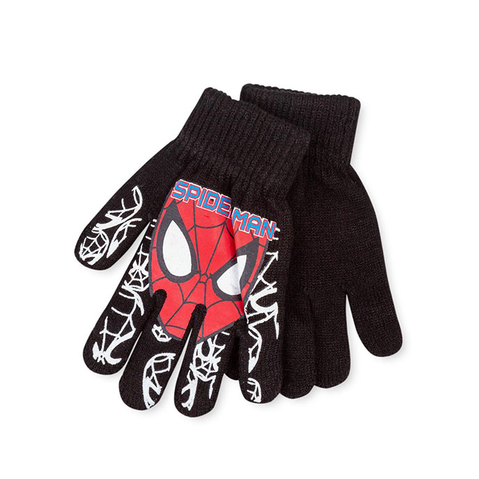 Disney Childrens Spiderman Gloves Black