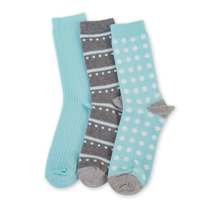 totes Waterfall 3 Pack Untreaded Ankle Socks Mint One Size