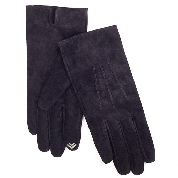 isotoner 2 Point Suede Smartouch Gloves Black