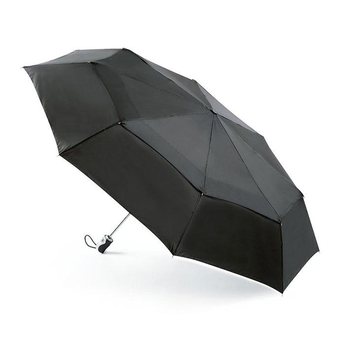 Clothing Accessories totes Big Top Aluminium Auto Open/Close Umbrella Black