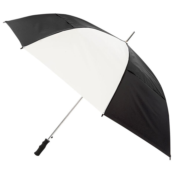 totes Windproof Double Canopy Umbrella Black & White