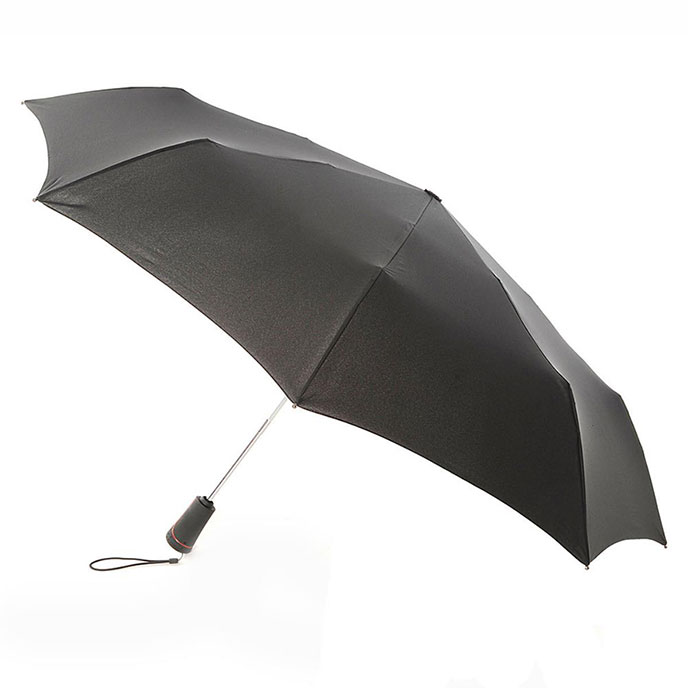 totes XTRA STRONG Auto Open/Close Ratchet Umbrella  Black