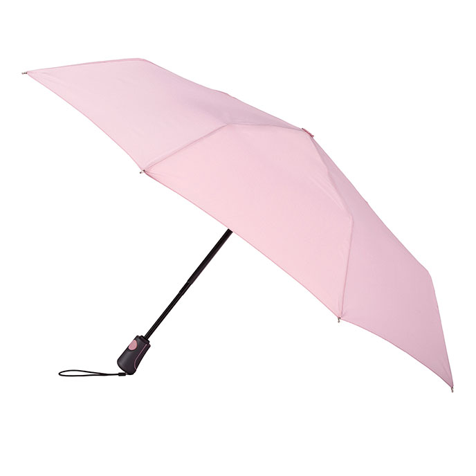 totes Auto Open/Close XTRA STRONG Dusky Pink Umbrella  (3 Section)