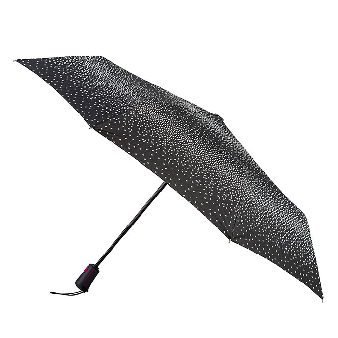 totes Auto Open Close XTRA STRONG B&W Graduated dots Umbrella (3 Section)