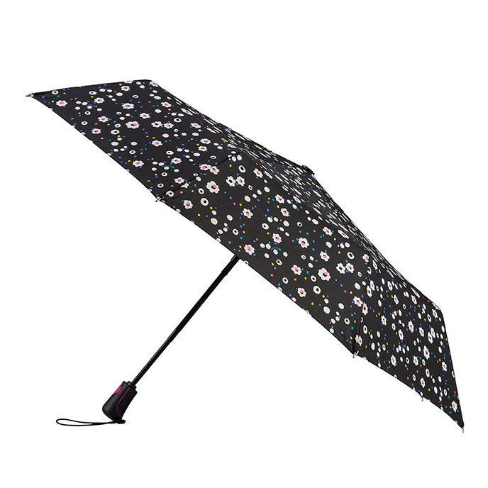 totes Auto Open/Close XTRA STRONG Dotty Daisy Umbrella (3 Section)