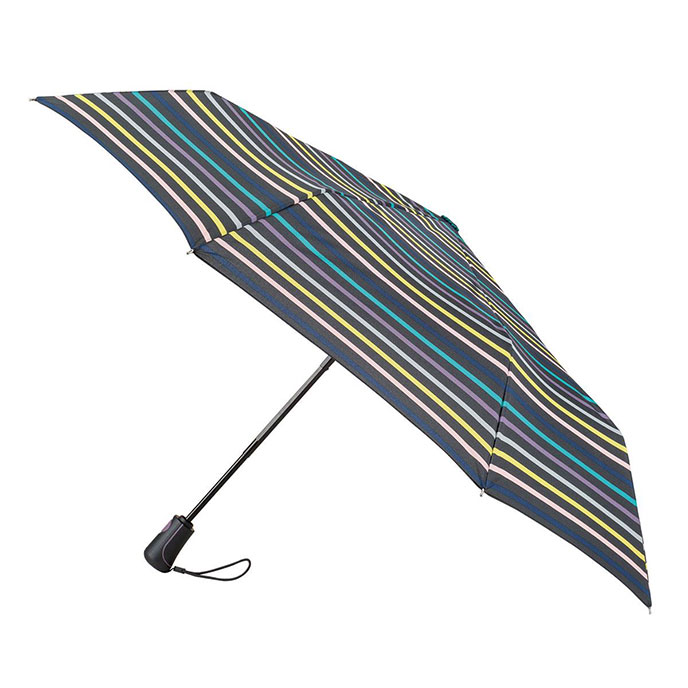 totes Auto Open/Close Xtra Strong Renovate Stripe Print Umbrella (3 Section)