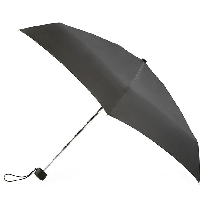 totes Thin Black Mini Umbrella (5 Section)