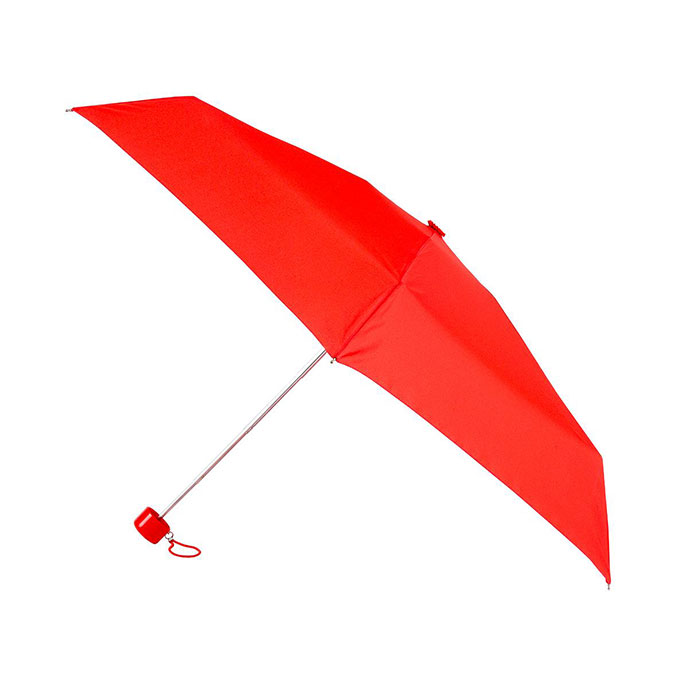totes Mini Round Plain Scarlet Umbrella (5 Section)