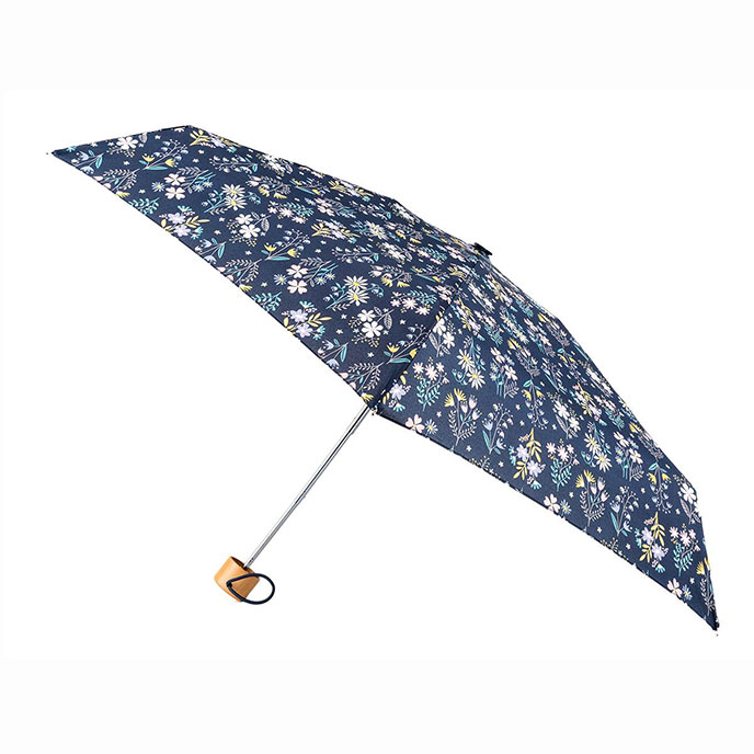totes Compact Round Sweet Stems Print Umbrella  (5 Section)