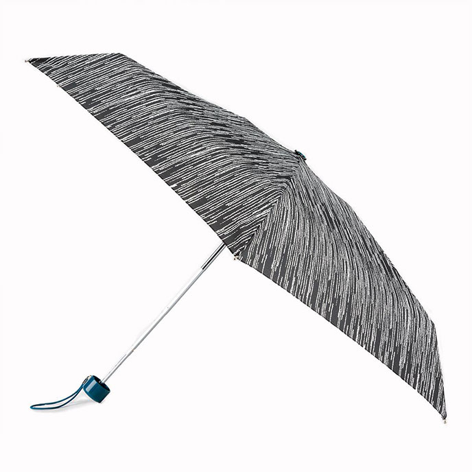 totes Compact Round Icicle Print Umbrella (5 Section)