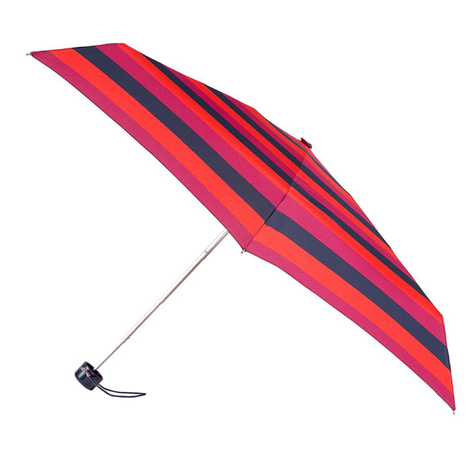 totes Mini Round Block Stripe Print Umbrella (5 Section)