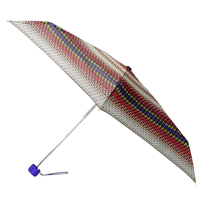 totes Mini Multi Zig Zag Thin Umbrella (5 Section)