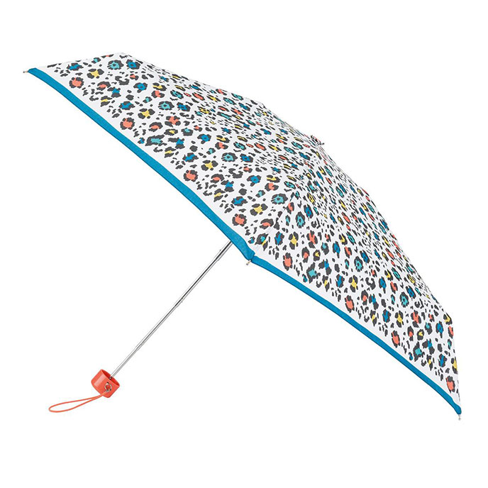 totes Mini Round Panther Print Umbrella (5 Section)