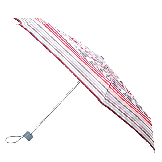 totes Mini Cream Multi Stripe Thin Umbrella  (5 Section)
