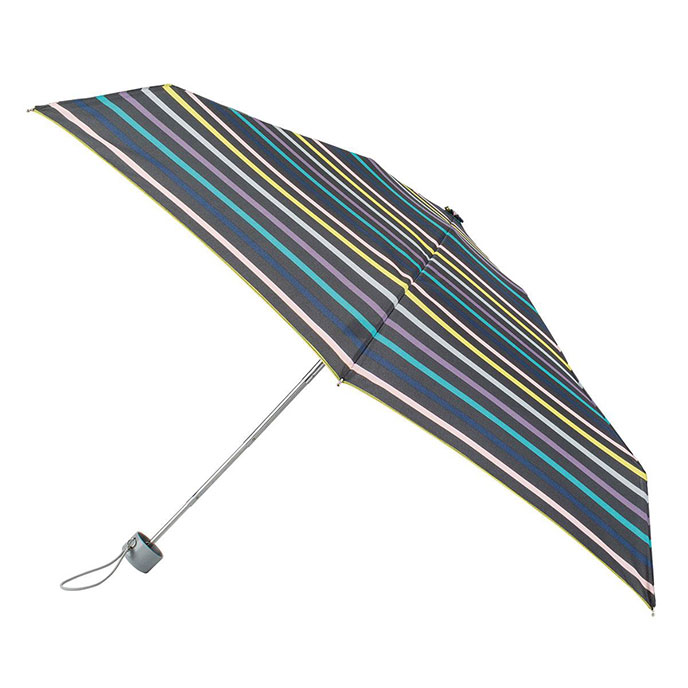 totes Mini Round Renovate Stripe Print Umbrella (5 Section)