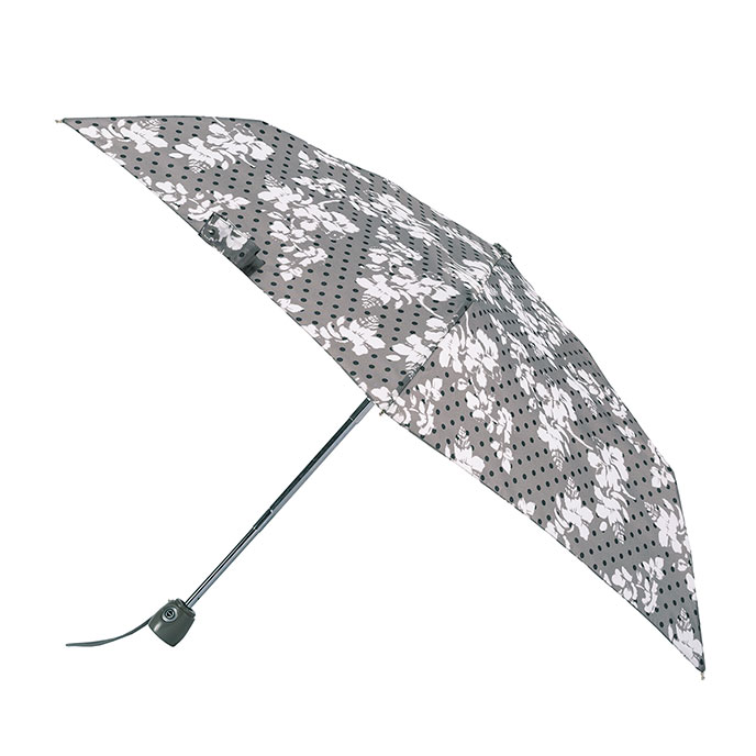 totes Auto Open/Close Thin Tapestry Floral Print Umbrella (3 Section)