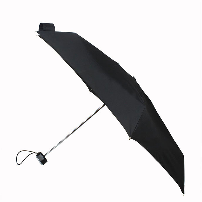 totes Plain Black Thin Umbrella (5 Section)