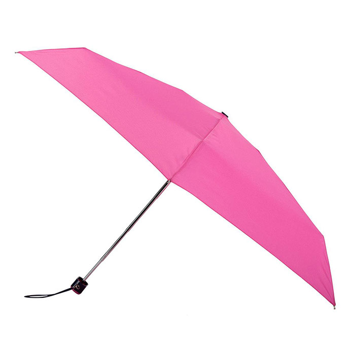 totes Plain Pink Thin Umbrella (5 Section)