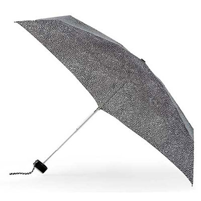 totes Speckle Dots Miniflat Thin Umbrella (5 Section)