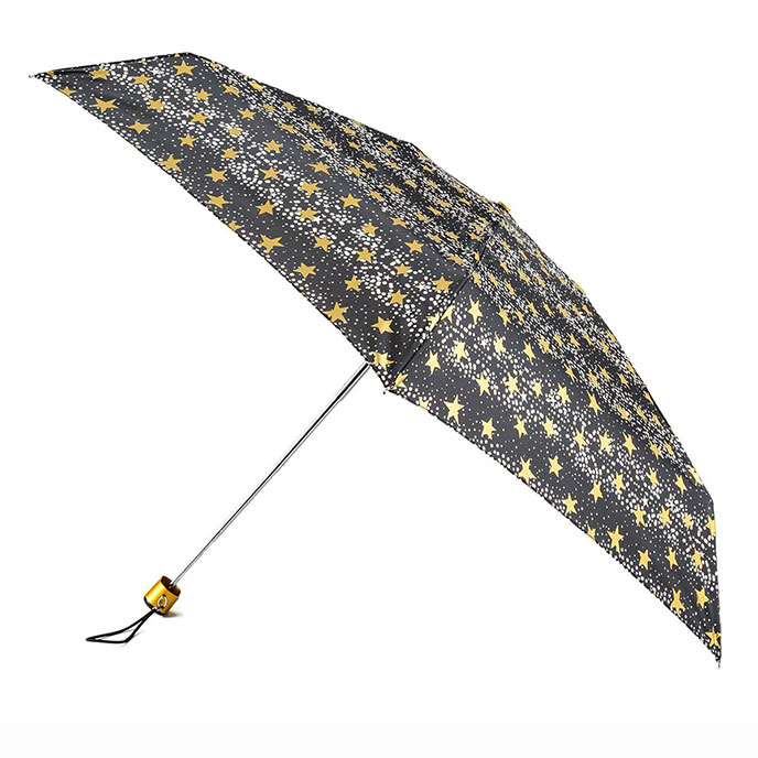 totes Compact Flat Dots and Stars Print Umbrella (5 Section)
