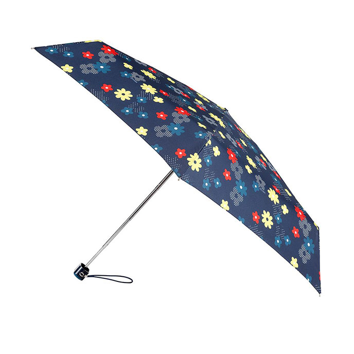totes Miniflat Dotty Flower Print Umbrella (5 Section)