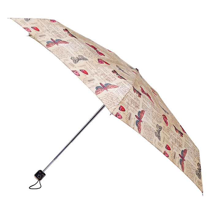 totes Butterfly Postcard Miniflat Thin Umbrella   (5 Section)