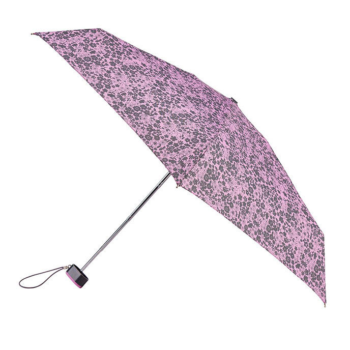 totes Miniflat Lilac Ditsy Print Umbrella (5 Section)