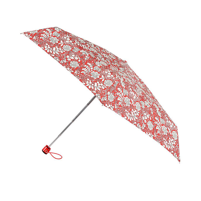 totes Mini Flat Damask Floral Print Umbrella (5 Section)