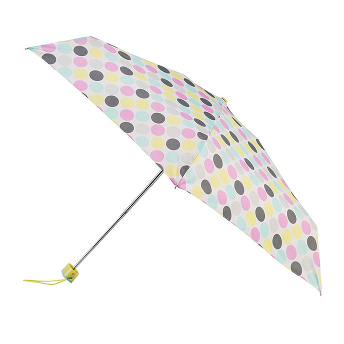 totes Miniflat Big Paradise Dot Print Umbrella (5 Section)